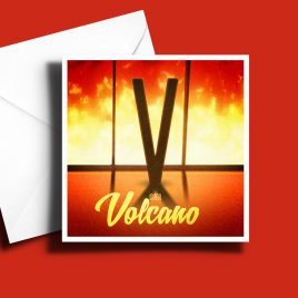 A to Z: Movie Edition - V is for Volcano 6 x 6 Greetings Card