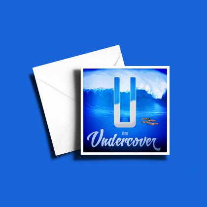 A to Z: Movie Edition - U is for Undercover 6 x 6 Greetings Card
