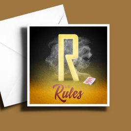 A to Z: Movie Edition - R is for Rules 6 x 6 Greetings Card
