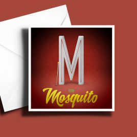 A to Z: Movie Edition - M is for Mosquito 6 x 6 Greetings Card