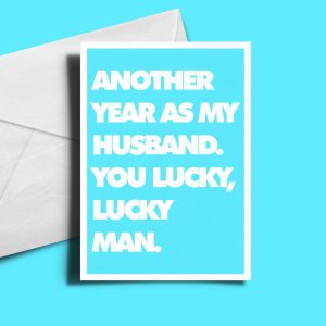 Alternative Greetings Card - Another Year As My Husband
