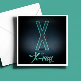 A to Z: Movie Edition - X is for X-Ray 6 x 6 Greetings Card