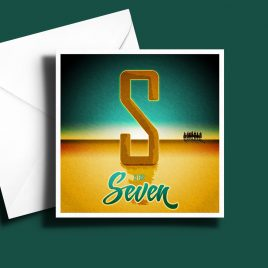 A to Z: Movie Edition - S is for Seven 6 x 6 Greetings Card