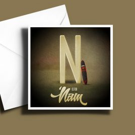 A to Z: Movie Edition - N is for 'Nam 6 x 6 Greetings Card