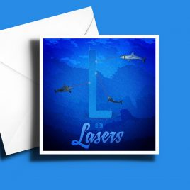 A to Z: Movie Edition - L is for Laser 6 x 6 Greetings Card