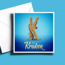 A to Z: Movie Edition - K is for Kraken 6 x 6 Greetings Card