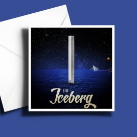 A to Z: Movie Edition - I is for Iceberg 6 x 6 Greetings Card