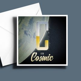 A to Z: Movie Edition - C is for Cosmic 6 x 6 Greetings Card